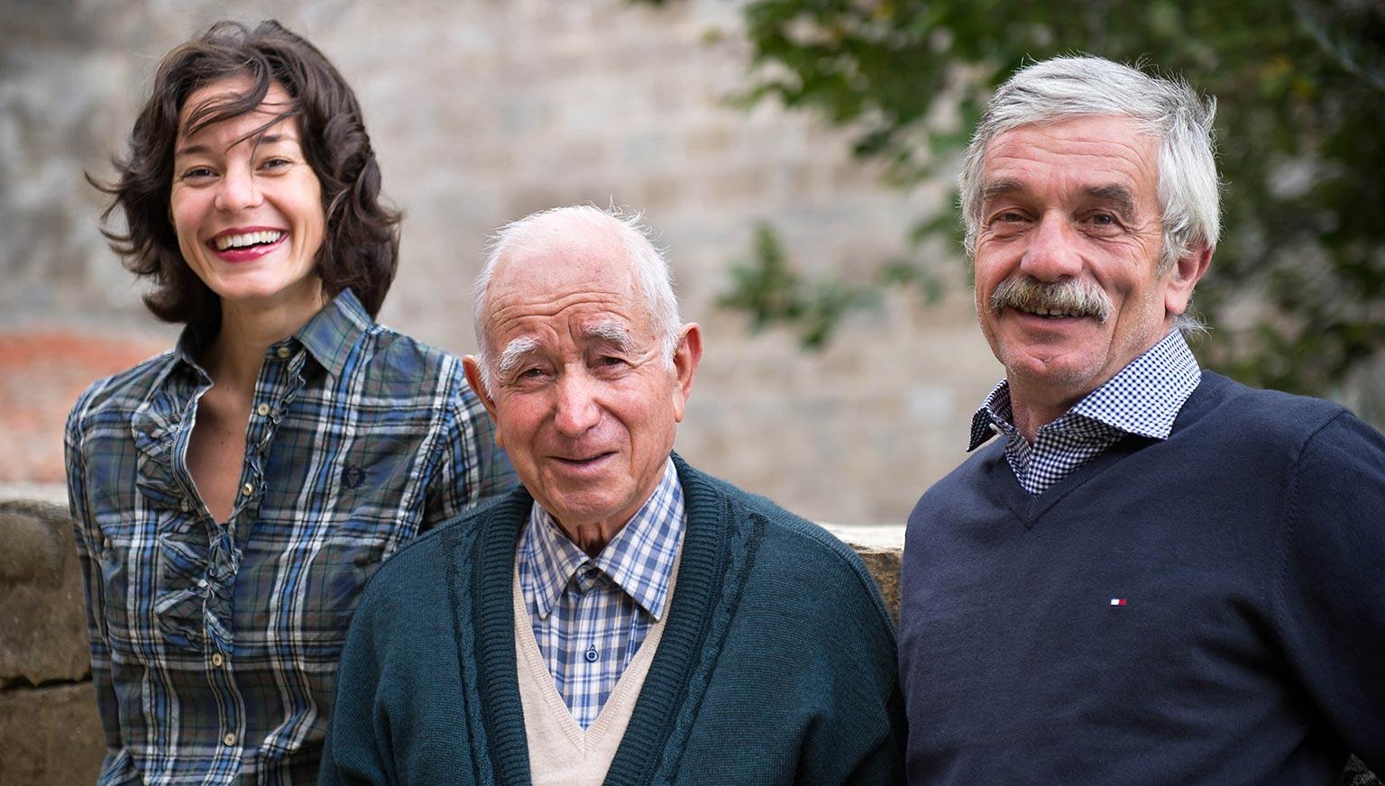Gemma, Giancarlo e nonno Marcucci