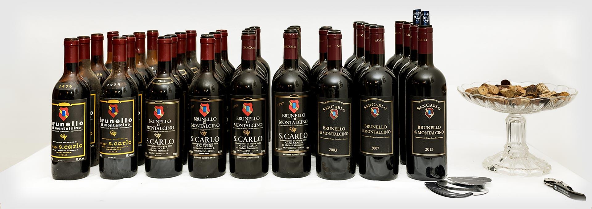 Vini SanCarlo - Verticale Brunello di Montalcino DOCG - Wines