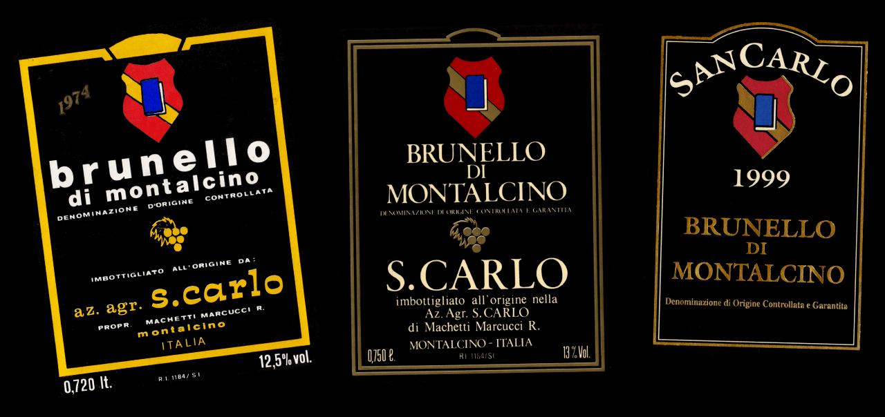Etichette Storiche SanCarlo Montalcino