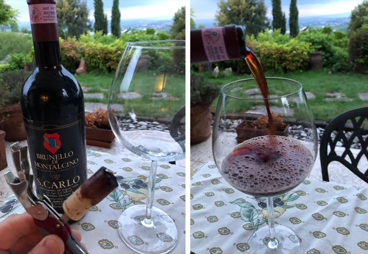 "David from Italy-USA,""Thinking of you! Perfect cork, color still bright, great!"", May 2020"